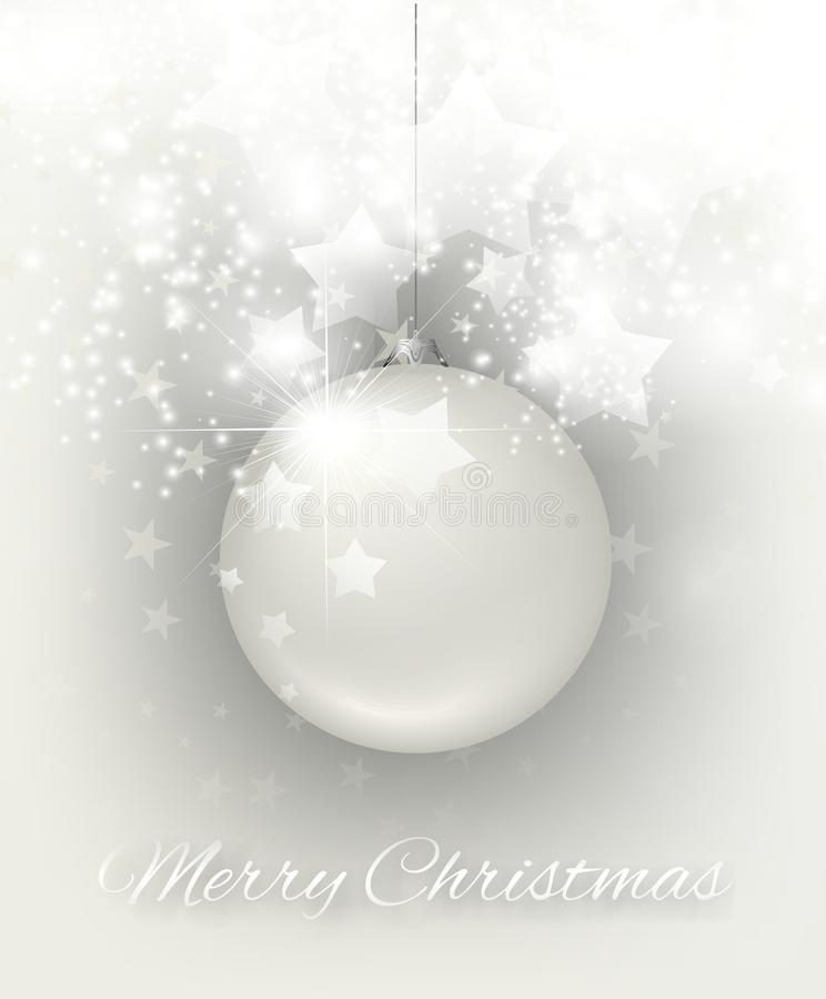 Λάμποντας κάρτα Χριστουγέννων διανυσματική απεικόνιση