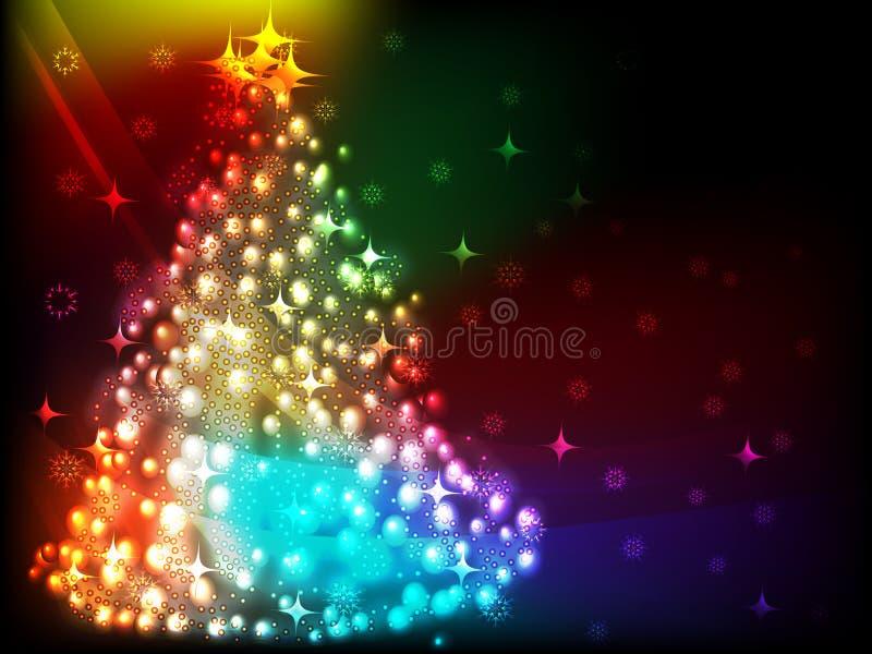 Λάμποντας υπόβαθρο Χριστουγέννων απεικόνιση αποθεμάτων
