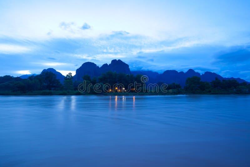 Λάος vang vieng στοκ εικόνα με δικαίωμα ελεύθερης χρήσης