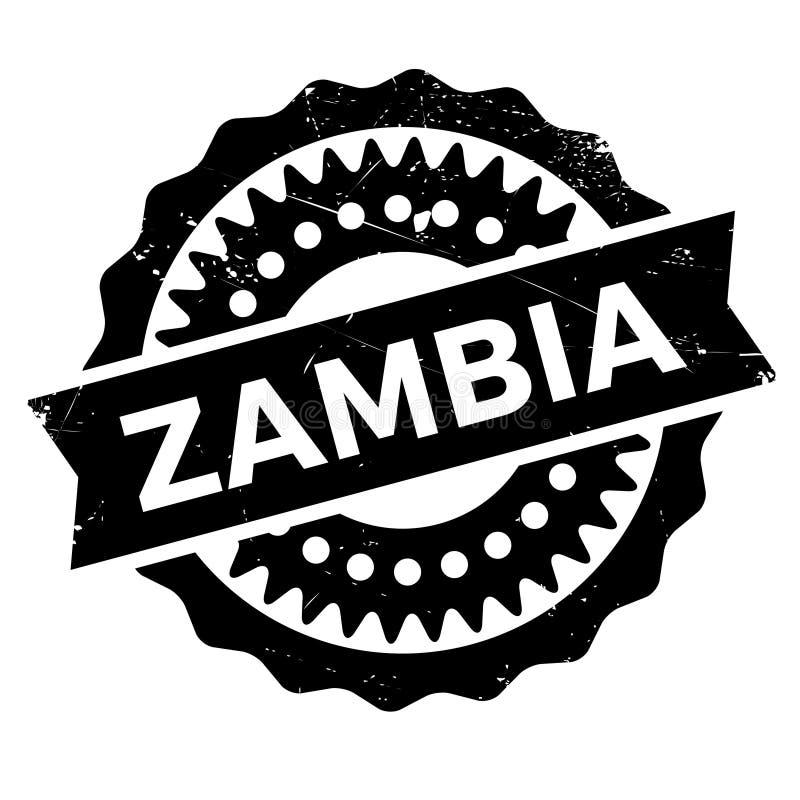 Λάστιχο γραμματοσήμων της Ζάμπια grunge διανυσματική απεικόνιση