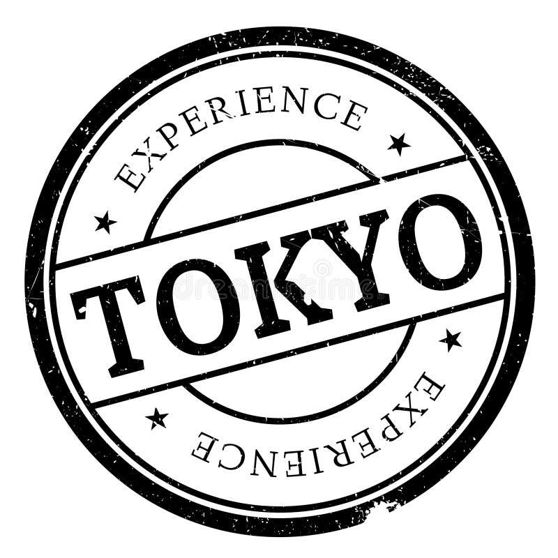 Λάστιχο γραμματοσήμων του Τόκιο grunge διανυσματική απεικόνιση