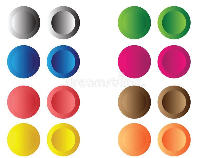 λάστιχο κουμπιών απεικόνιση αποθεμάτων