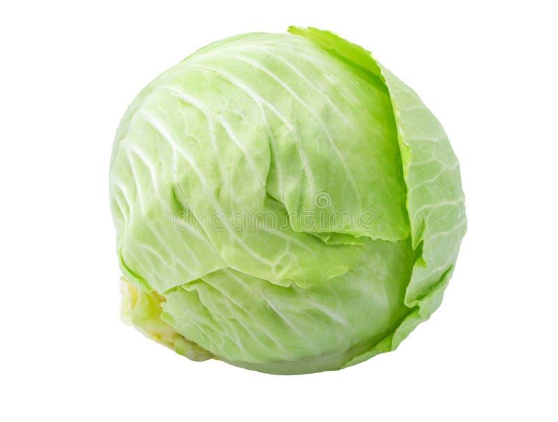 Λάχανο που απομονώνεται πράσινο στο λευκό στοκ εικόνες με δικαίωμα ελεύθερης χρήσης