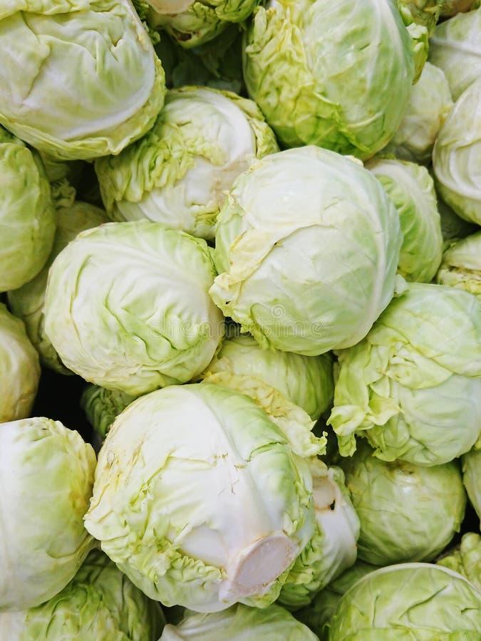 Λάχανο που πωλείται σε ασιατική υγρή αγορά στοκ φωτογραφία με δικαίωμα ελεύθερης χρήσης