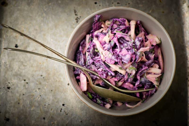 Λάχανο σαλάτας slaw στοκ φωτογραφία με δικαίωμα ελεύθερης χρήσης