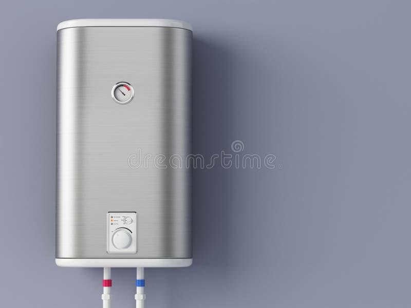 Λέβητας εγχώριας ηλεκτρικός θέρμανσης διανυσματική απεικόνιση