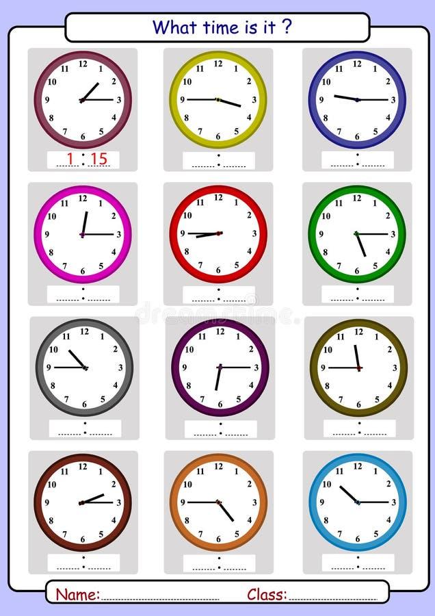Λέγοντας το χρόνο, ποιος είναι ο χρόνος, διανυσματική απεικόνιση