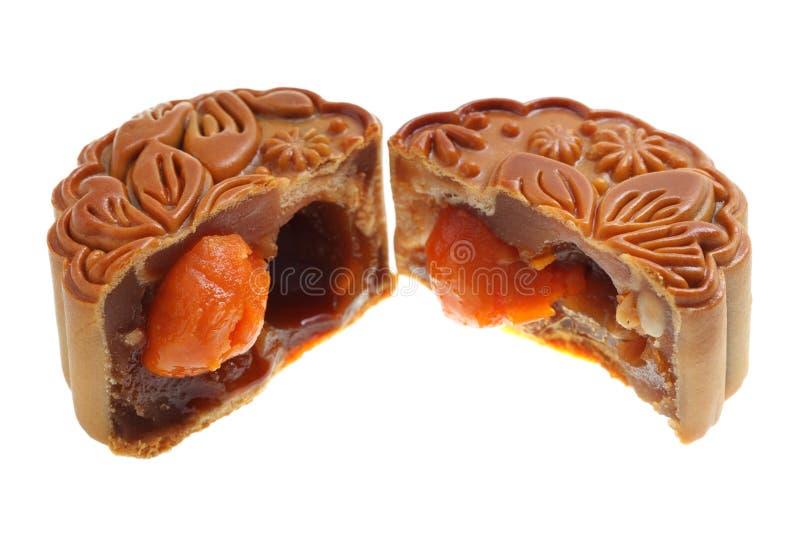 Λέκιθος αυγών Mooncake στοκ εικόνες με δικαίωμα ελεύθερης χρήσης