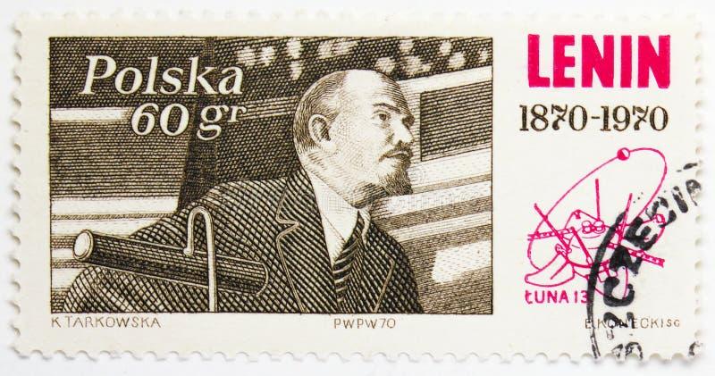 Λένιν που εξετάζει το 3$ο διεθνές συνέδριο στο Λένινγκραντ, ρωσικός κομμουνιστικός ηγέτης Lenin1870-1924 serie, circa 1970 στοκ εικόνες
