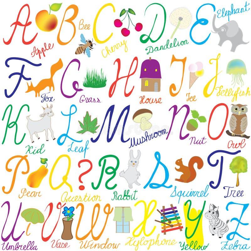 λέξεις εικόνων επιστολών  διανυσματική απεικόνιση