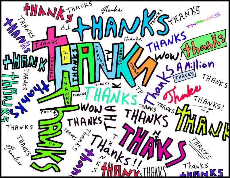 λέξεις ευχαριστιών στοκ φωτογραφίες