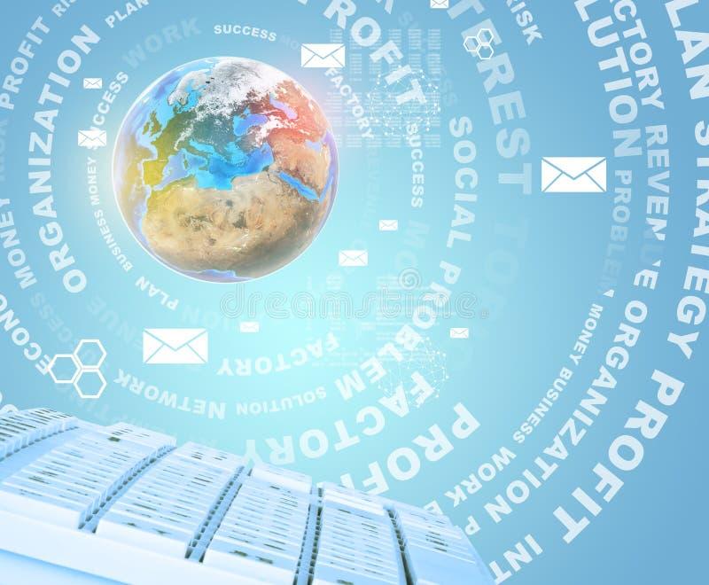 Λέξεις πληκτρολογίων και επιχειρήσεων ελεύθερη απεικόνιση δικαιώματος