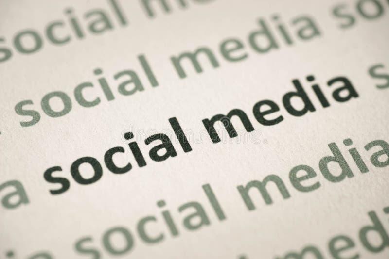 Λέξεων μέσα που τυπώνονται κοινωνικά στη μακροεντολή εγγράφου στοκ εικόνες με δικαίωμα ελεύθερης χρήσης