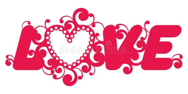 Λέξη αγάπης. διανυσματική απεικόνιση
