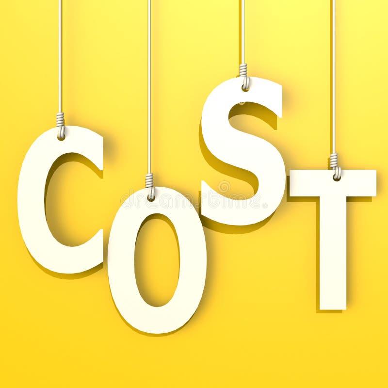 Λέξη δαπανών στο πορτοκαλί υπόβαθρο διανυσματική απεικόνιση