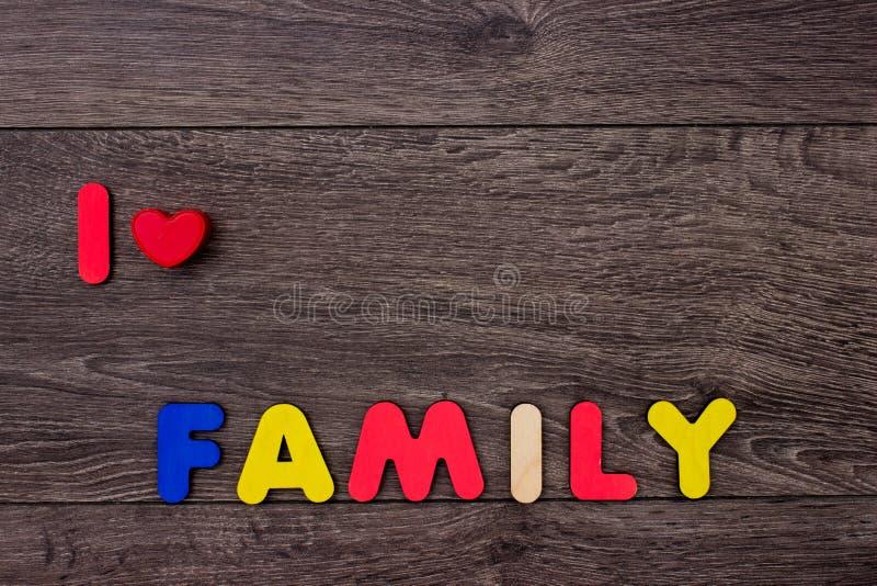 Λέξη από τις ξύλινες επιστολές στοκ φωτογραφία