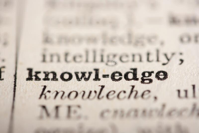 λέξη γνώσης στοκ εικόνα με δικαίωμα ελεύθερης χρήσης