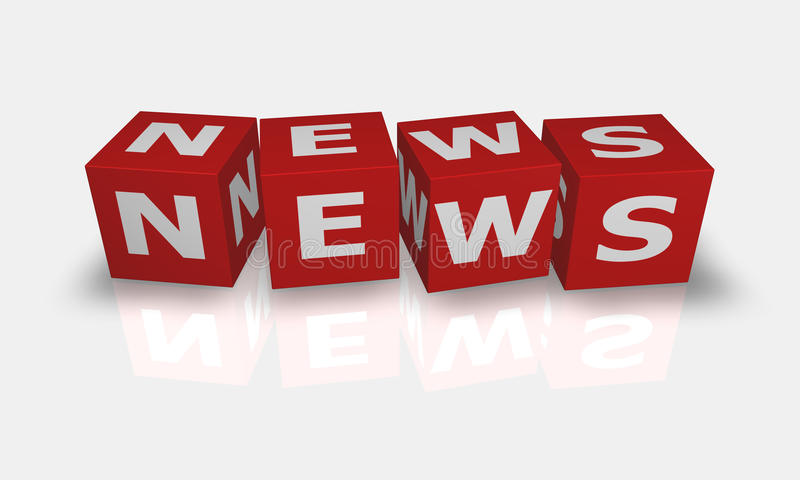 λέξη ειδήσεων κύβων απεικόνιση αποθεμάτων