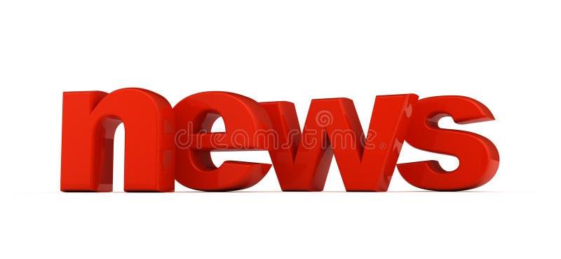λέξη ειδήσεων ελεύθερη απεικόνιση δικαιώματος