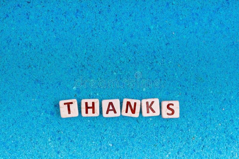 Λέξη ευχαριστιών στην πέτρα στοκ εικόνες με δικαίωμα ελεύθερης χρήσης