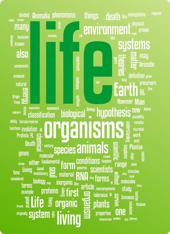 λέξη ζωής απεικόνισης σύνν&epsilo διανυσματική απεικόνιση