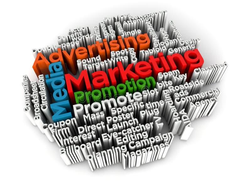 λέξη μάρκετινγκ σύννεφων δι στοκ εικόνες με δικαίωμα ελεύθερης χρήσης