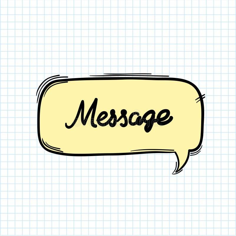 Λέξη μηνυμάτων στη λεκτική φυσαλίδα διανυσματική απεικόνιση