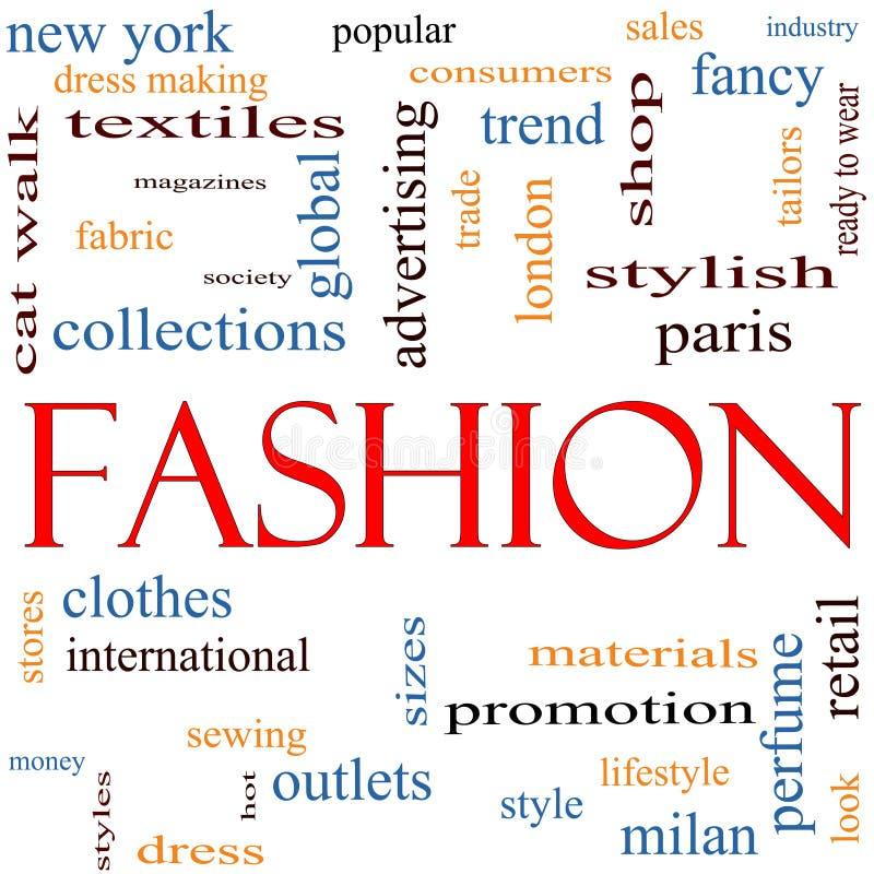 λέξη μόδας έννοιας σύννεφων απεικόνιση αποθεμάτων
