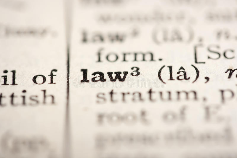 λέξη νόμου στοκ εικόνα με δικαίωμα ελεύθερης χρήσης