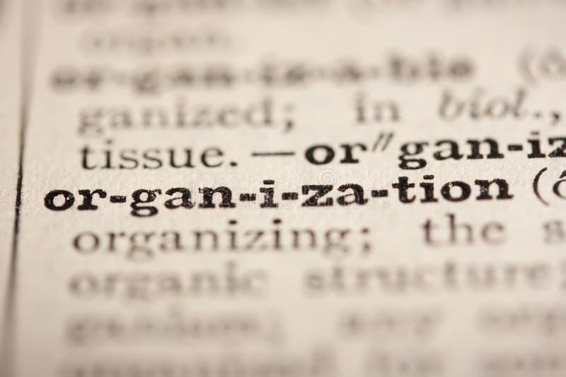 λέξη οργάνωσης στοκ φωτογραφία με δικαίωμα ελεύθερης χρήσης