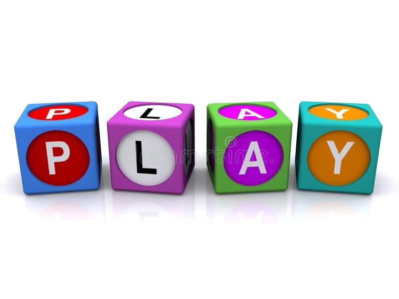 λέξη παιχνιδιού κύβων απεικόνιση αποθεμάτων