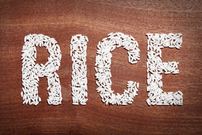 Λέξη ρυζιού. στοκ φωτογραφίες