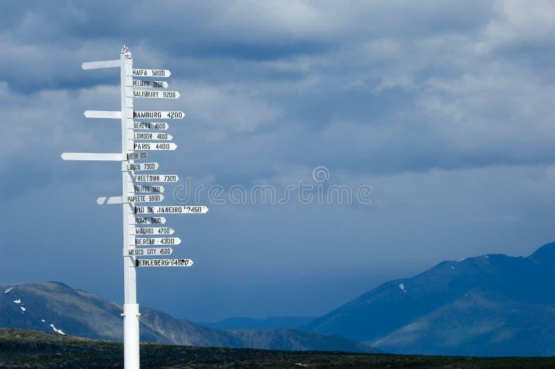 λέξη σημαδιών κατεύθυνσης στοκ φωτογραφία