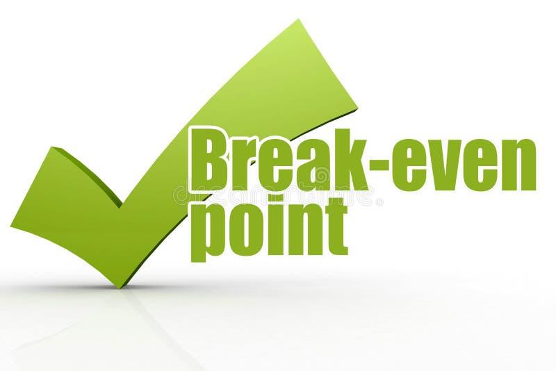 Λέξη σημείου εξισορρόπησης με πράσινο checkmark ελεύθερη απεικόνιση δικαιώματος