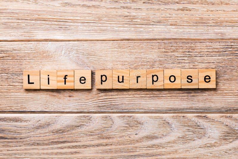Λέξη σκοπού ζωής που γράφεται στον ξύλινο φραγμό κείμενο σκοπού ζωής στον ξύλινο πίνακα για σας, έννοια στοκ φωτογραφία με δικαίωμα ελεύθερης χρήσης