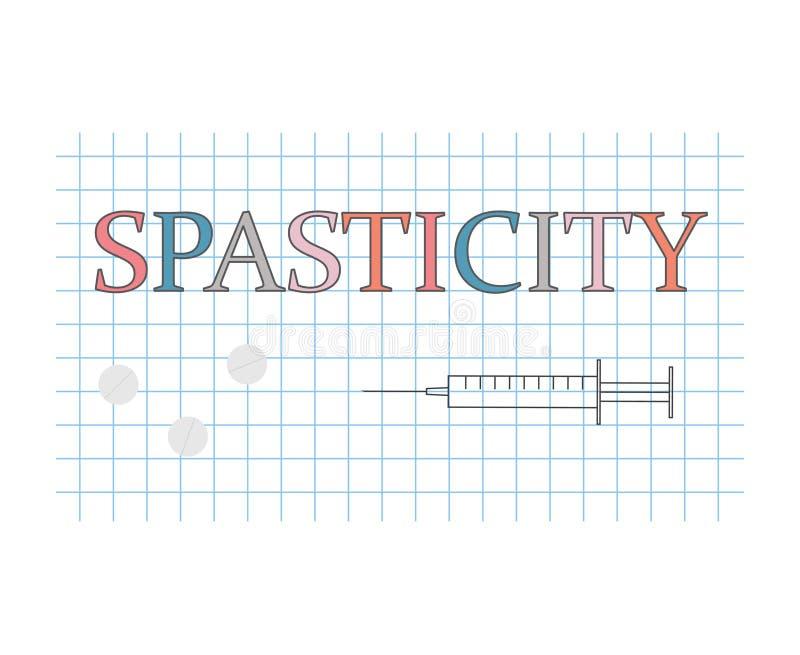 Λέξη σπαστικότητας στο ελεγμένο φύλλο εγγράφου διανυσματική απεικόνιση