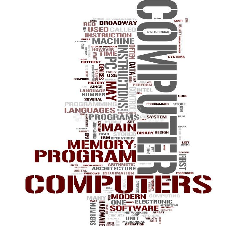 λέξη υπολογιστών κολάζ ελεύθερη απεικόνιση δικαιώματος