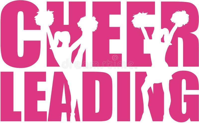 Λέξη Cheerleading με τη διακοπή διανυσματική απεικόνιση