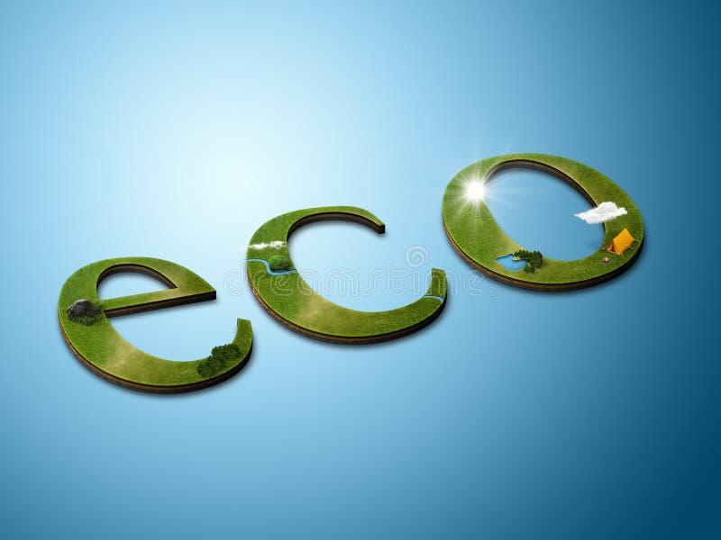 λέξη eco στοκ εικόνα με δικαίωμα ελεύθερης χρήσης