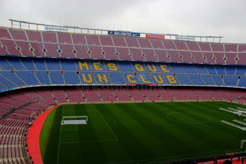 Λέσχη Βαρκελώνη ποδοσφαίρου σταδίων Nou στρατόπεδων στοκ εικόνες με δικαίωμα ελεύθερης χρήσης