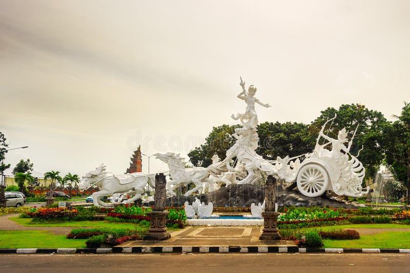Άγαλμα gatotkaca Satria, Μπαλί στοκ φωτογραφία με δικαίωμα ελεύθερης χρήσης