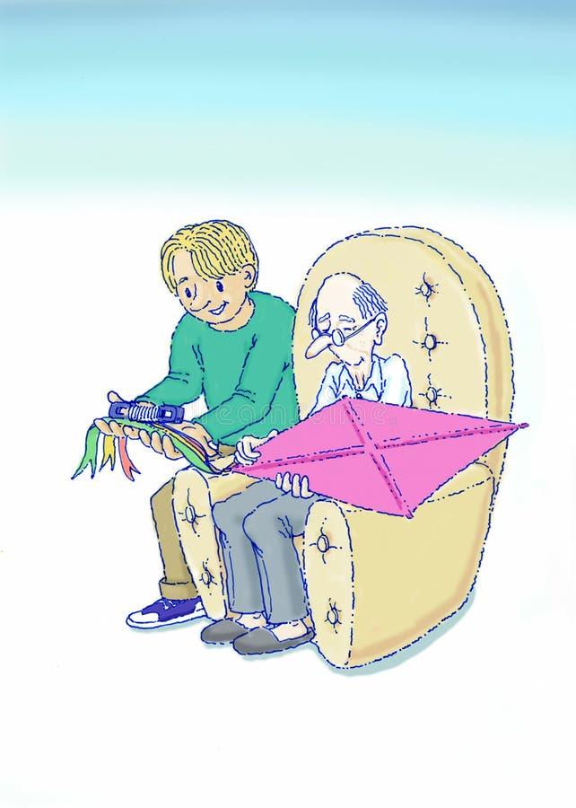 λήψη ηλικιωμένων ανθρώπων πρ& διανυσματική απεικόνιση