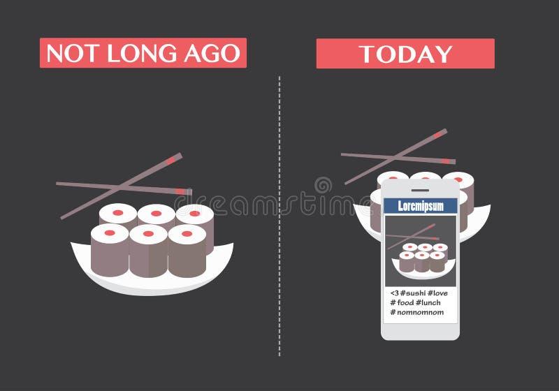 Λήψη της εικόνας των τροφίμων διανυσματική απεικόνιση
