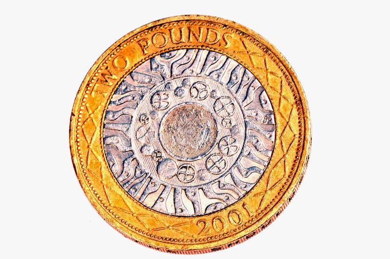 λίβρα δύο νομισμάτων στοκ φωτογραφία με δικαίωμα ελεύθερης χρήσης