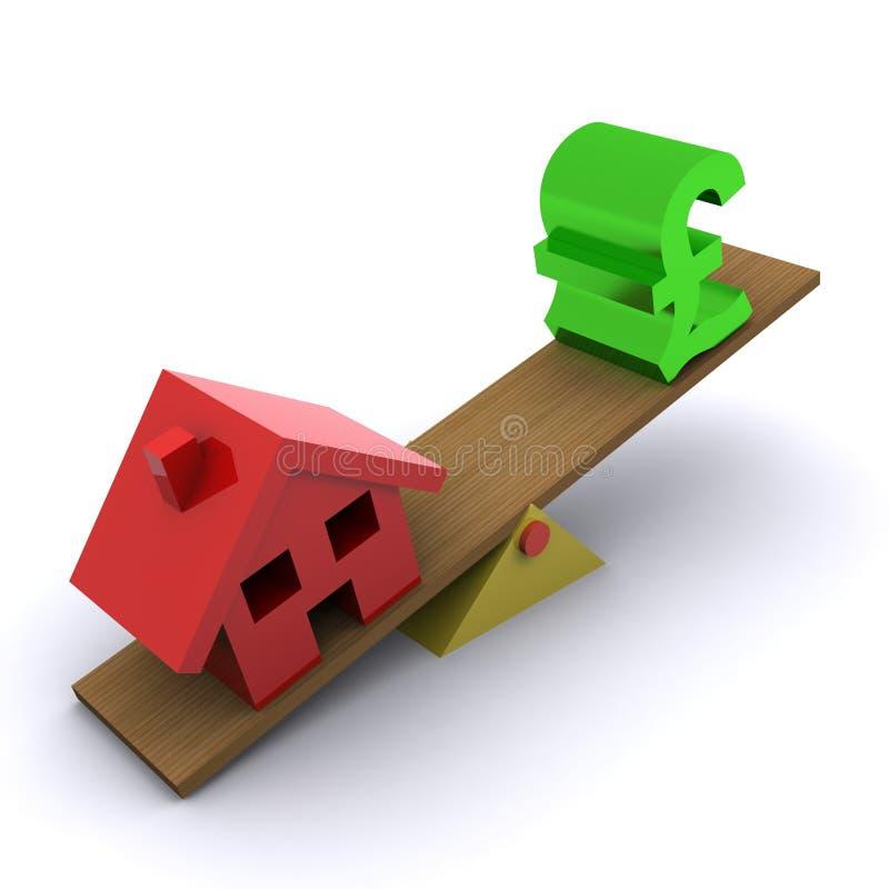 λίβρα πιστωτικής κρίσιμης  διανυσματική απεικόνιση