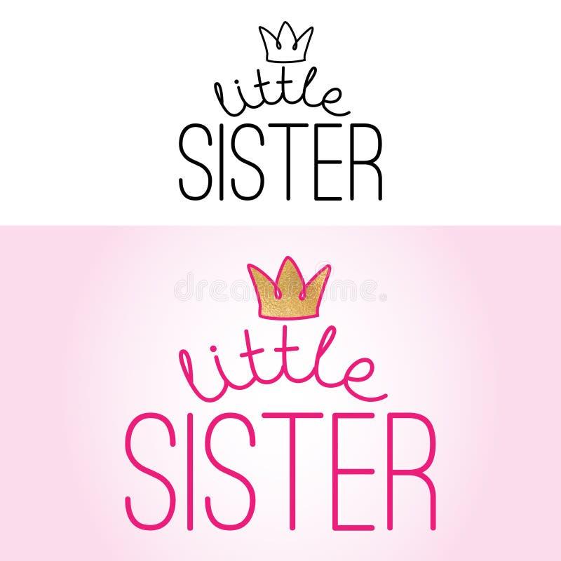 Λίγη αδελφή - χειροποίητη καλλιγραφία ελεύθερη απεικόνιση δικαιώματος