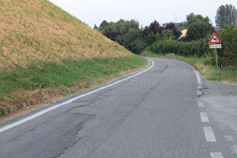 Λίγη εθνική οδός στην Αιμιλία-Ρωμανία Ιταλία στοκ εικόνες