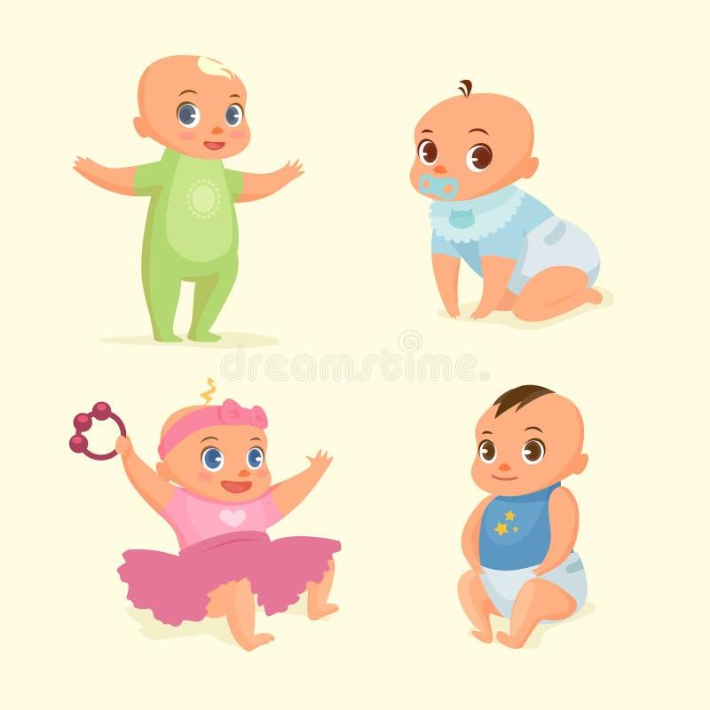 Λίγη καθορισμένη επίπεδη απεικόνιση μωρών απεικόνιση αποθεμάτων