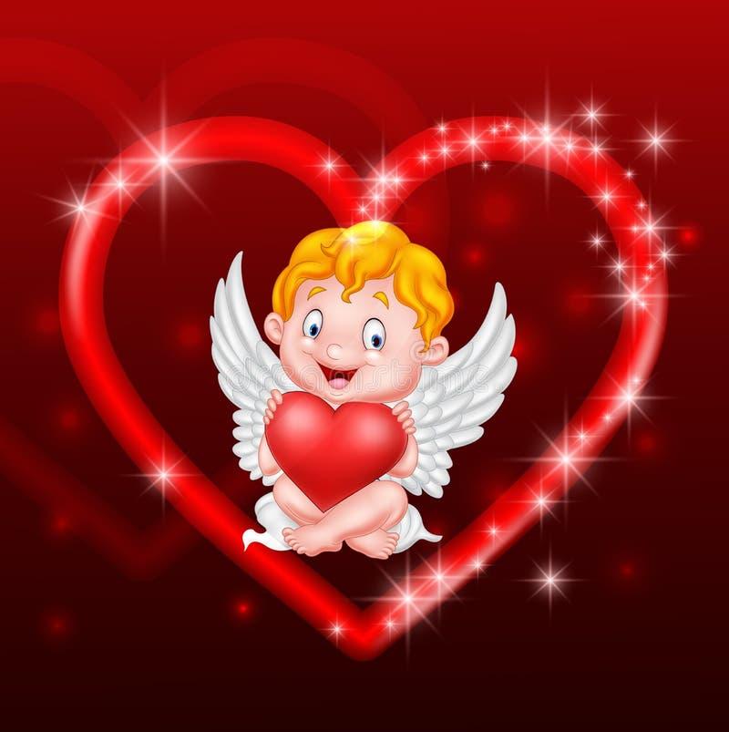 Λίγη καρδιά εκμετάλλευσης cupid διανυσματική απεικόνιση