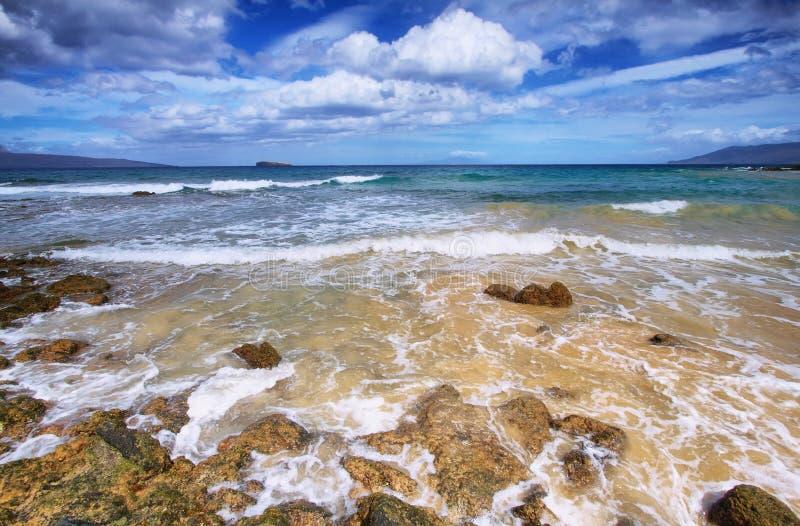 Λίγη παραλία του κρατικού πάρκου παραλιών Makena, στοκ φωτογραφία